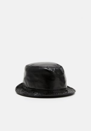 SHINY BUCKET HAT - Hat - black