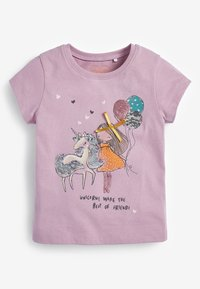 Next - 2-PACK - Print T-shirt - lilac - 3