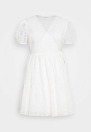 WRAP DRESS - Day dress - white