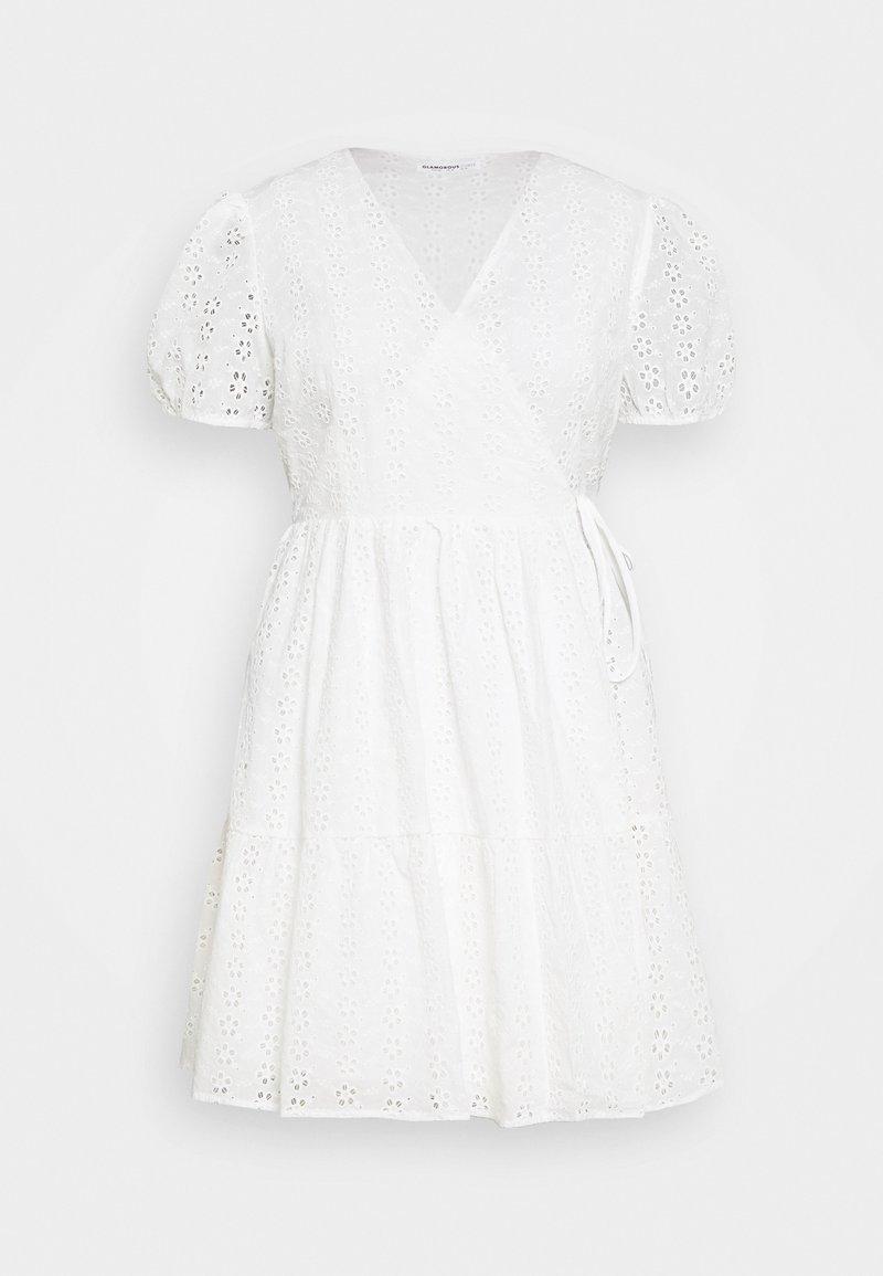 Glamorous Curve - WRAP DRESS - Day dress - white