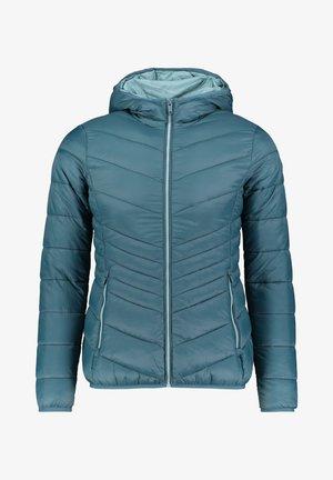 WOMAN JACKET FIX HOOD - Winter jacket - petrol