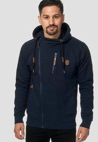 INDICODE JEANS - ELM - Zip-up hoodie - navy - 0