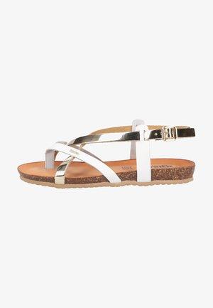 T-bar sandals - platino/bianco
