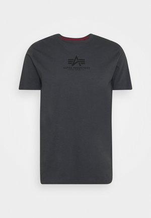 BASIC - Print T-shirt - greyblack