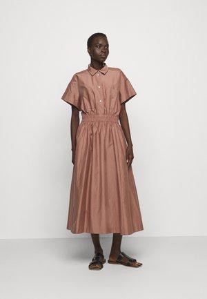 WOMENS DRESS - Shirt dress - brown