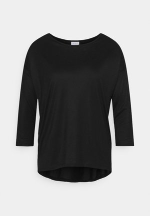 VISCOOP ONECK - Long sleeved top - black