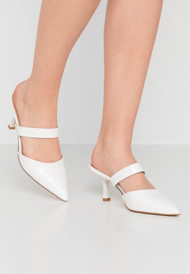 HOSS X NAKD POINTED TOE SLIP INS - Sandalias - white