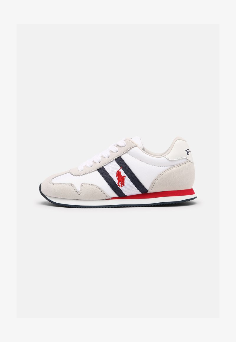 Polo Ralph Lauren - KELLAND UNISEX - Trainers - white/light grey/navy/red