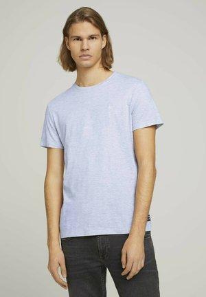 Print T-shirt - light stone grey melange