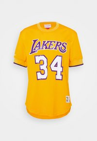 Mitchell & Ness - NBA LOS ANGELES LAKERS SHAQUILLE O'NEAL NAME NUMBER - Article de supporter - gold - 4