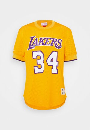 NBA LOS ANGELES LAKERS SHAQUILLE O'NEAL NAME NUMBER - Equipación de clubes - gold