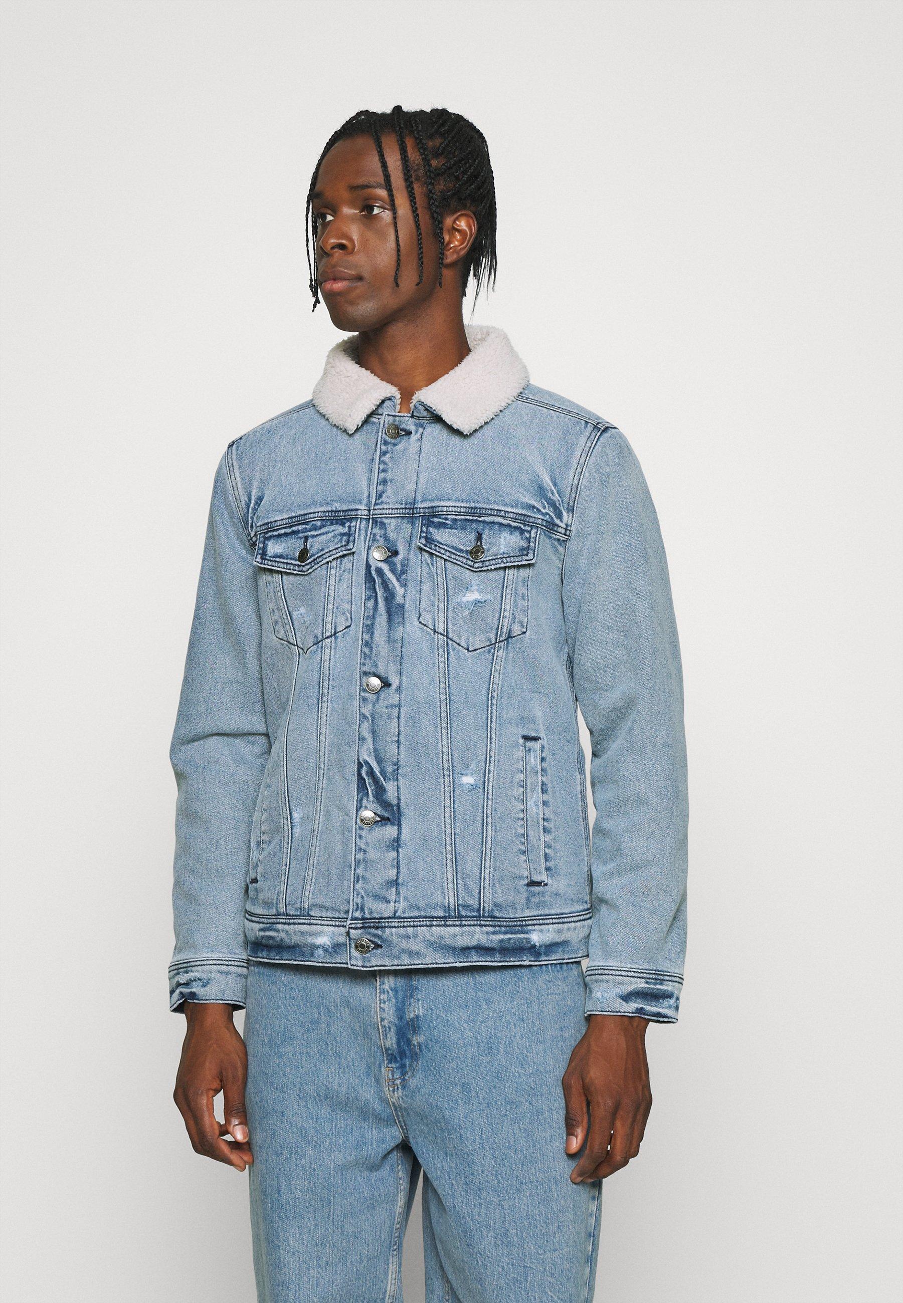 Men LIGHT WASH TRUCKER - Denim jacket