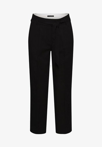 MIT BINDEGÜRTEL - Trousers - black