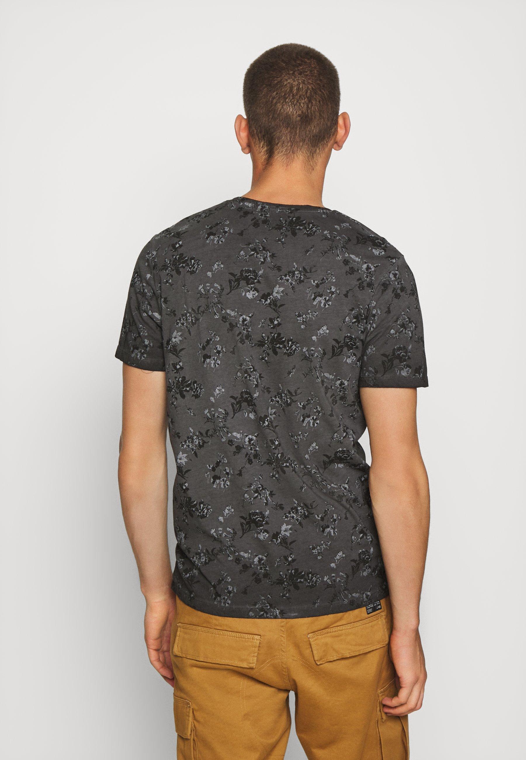 Jack & Jones PREMIUM JPRBLASHAWN TEE CREW NECK - Print T-shirt - black VQmGR