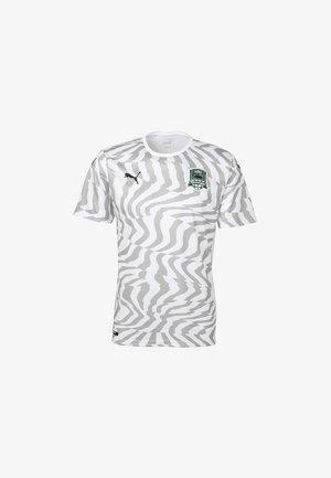 Print T-shirt - puma white-gray violet