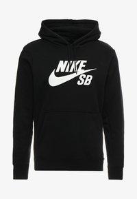 Nike SB - ICON HOODIE PO ESSNL UNISEX - Hættetrøjer - black/white - 3