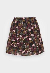 ONLSTAR SHORT SKIRT - A-line skirt - black/pink