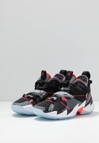 Jordan - WHY NOT ZER0.3 - Basketball shoes - black/bright crimson/cement grey/white - 3