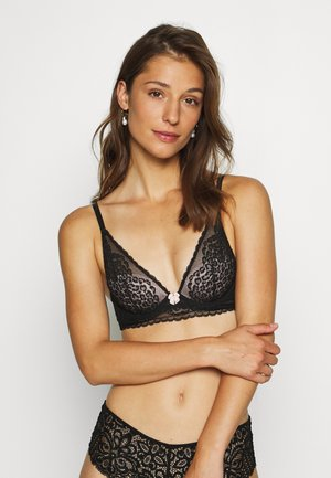 LEOPARD - Triangle bra - black