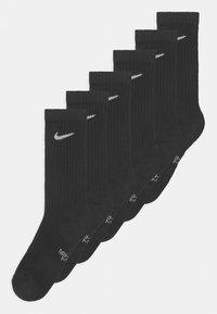 Nike Sportswear - PERFORMANCE CUSHIONED CREW TRAINING 6 PACK UNISEX - Socks - black/white - 0