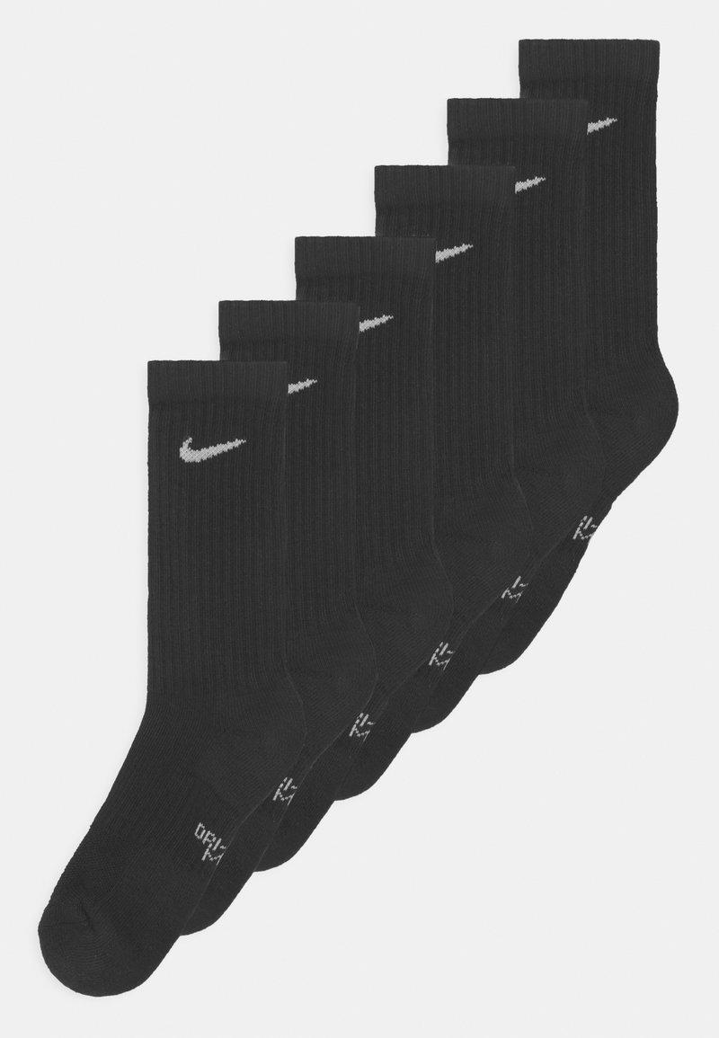 Nike Sportswear - PERFORMANCE CUSHIONED CREW TRAINING 6 PACK UNISEX - Socks - black/white