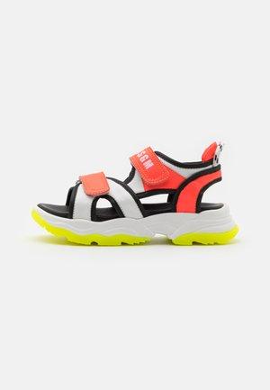 UNISEX - Sandals - white/orange