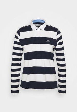 MIXED STRIPE HEAVY RUGGER - Polo shirt - evening blue