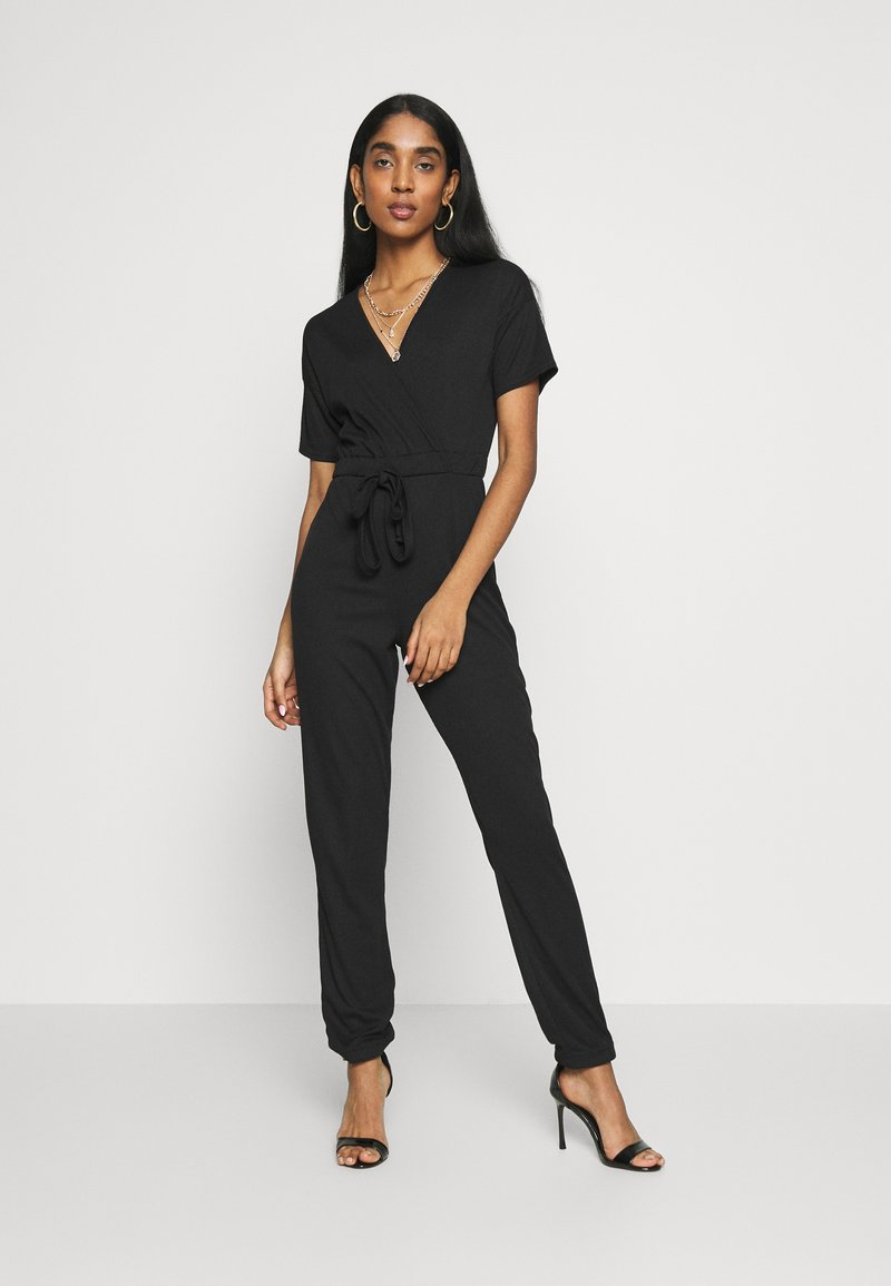 Missguided - WRAP JUMPSUIT - Overal - black