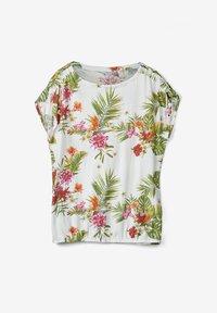 s.Oliver - O-SHAPE MIT RAFFUNG - Blouse - cream floral print - 0