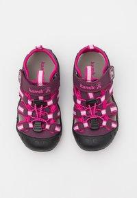 Kamik - CRAB UNISEX - Walking sandals - plum/prune - 2