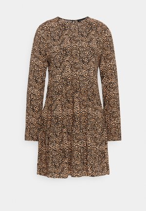 SHORT CREW NECK - Sukienka letnia - black/beige