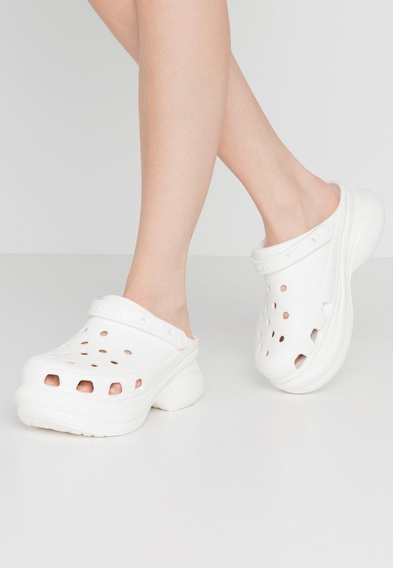 Crocs - CLASSIC BAE  - Heeled mules - white