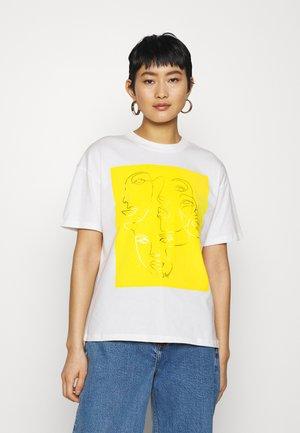 SLFFACES  - Print T-shirt - bright white