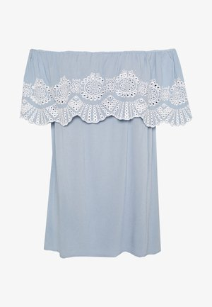 VILATTI OFFSHOULDER - Blouse - ashley blue