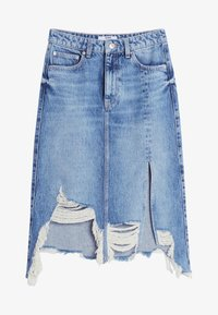 Bershka - A-line skirt - blue denim - 4