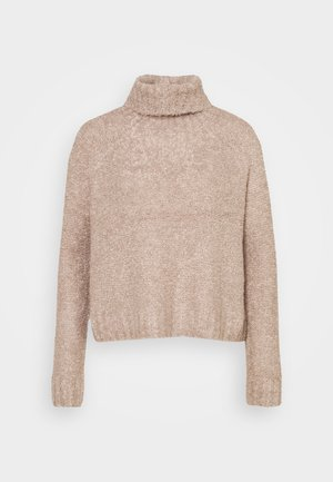 ONLOLIVIA LOOSE ROLLNECK  - Pullover - light brown