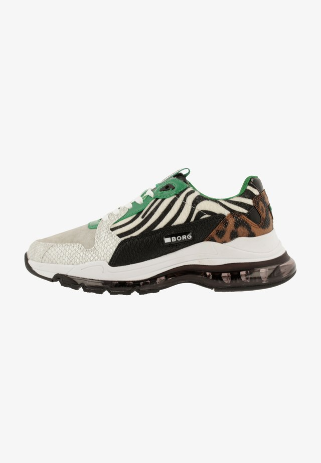 Sneakers laag - white/green
