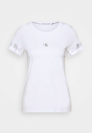 OUTLINE LOGO TEE - Print T-shirt - bright white