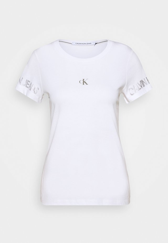 OUTLINE LOGO TEE - T-shirt con stampa - bright white