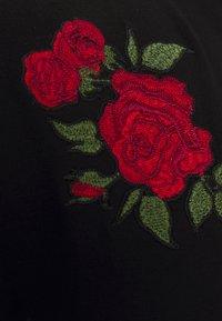 Brave Soul - LANTANA - Print T-shirt - jet black - 2