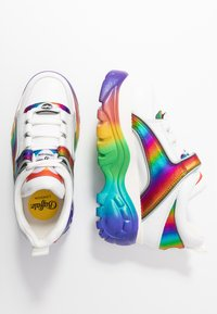 Buffalo London - Joggesko - white/rainbow - 3