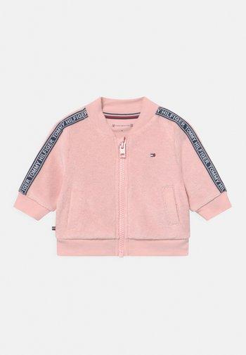 TAPED UNISEX - Zip-up sweatshirt - pink