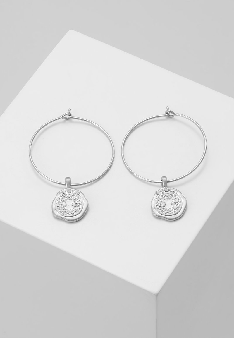 Pilgrim - EARRINGS VERDANDI - Earrings - silver-coloured