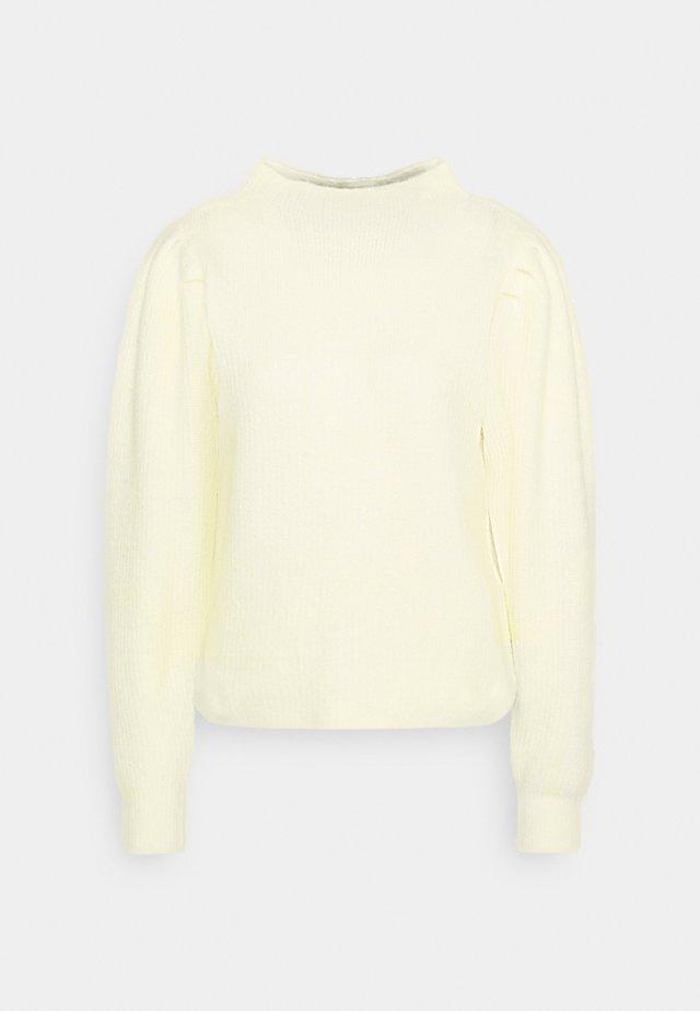 SLFLIPA T NECK  - Strikpullover /Striktrøjer - pastel yellow
