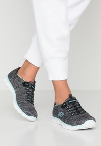 Skechers - EMPIRE SEE YA RELAXED FIT - Mocasines - black/turquoise - 0