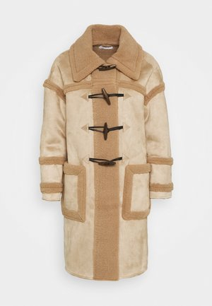 DUFFLE COAT WITH SHEARLING DETAIL - Frakker / klassisk frakker - light brown