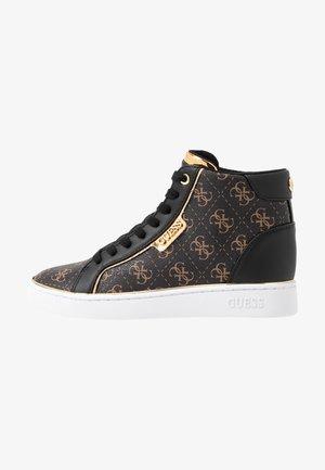 BRINA - Sneakersy wysokie - bronze/black