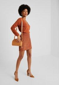 Object - OBJCHLOE  - Pencil skirt - brown patina - 1