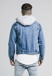 SIKSILK - DETACHABLE HOOD - Spijkerjas - mid wash blue - 2