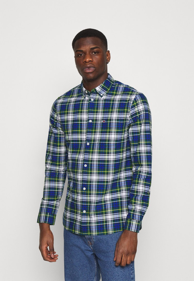 Tommy Jeans - OXFORD CHECK - Camicia - providence blue/multi